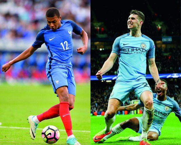 Kylian Mbappe (18, AS Monaco) und John Stones (23, Manchester City)