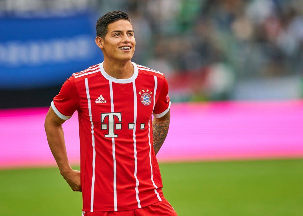 James Rodriguez bei seinem ersten Einsatz für den FC Bayern München im Spiel gegen Werder Bremen.